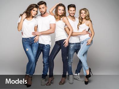 Männliche & weibliche Models